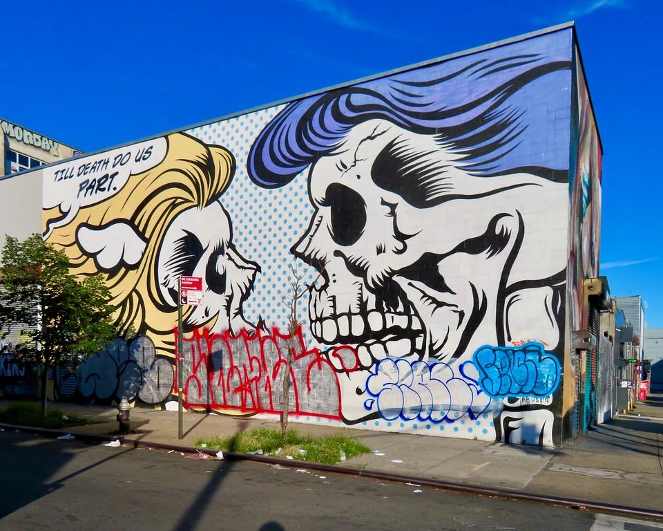 DFACE mural in Bushwick Brookyln - Till Death Do us Part