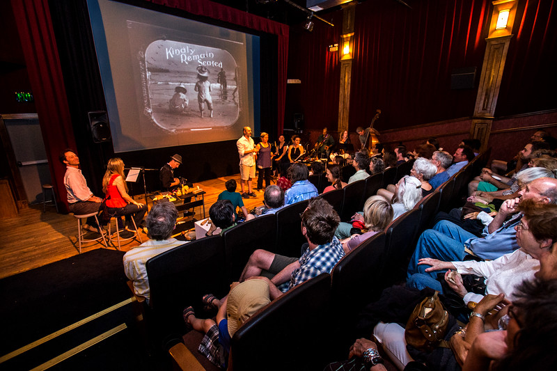 Buster Keaton's The General, with Santa Fe Pop Up Choir at CCA on Saturday, June 20, 2015. This is in affiliation with St. John's College Graduate Institute and CCA Cinematheque presents The Auteurs. Photos by © Jane Phillips Photography