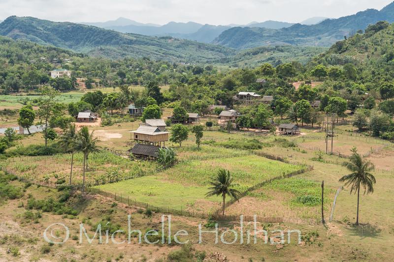 Views along the Ho Chi Minh Highway South of Khesanh, Vietnam