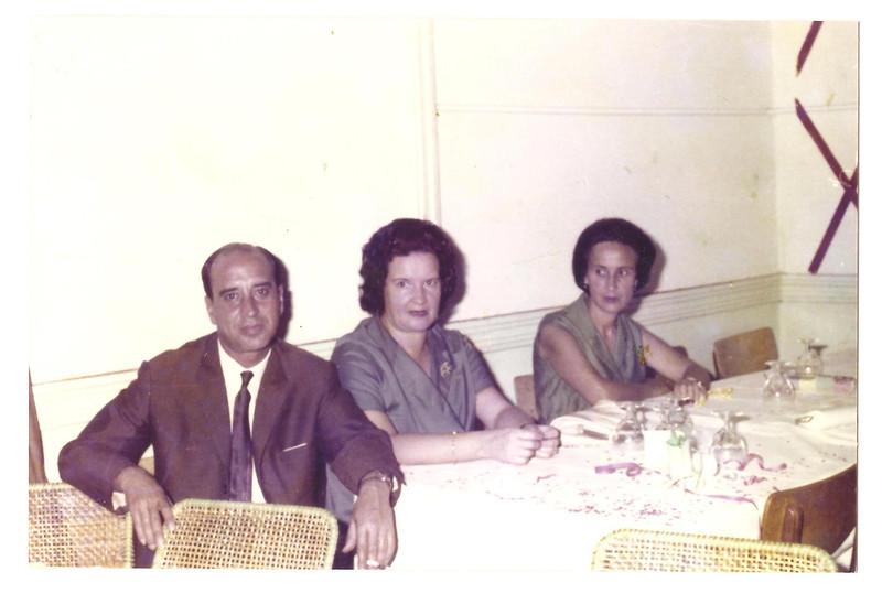 Ferreira da Silva e esposa Regina e Bininha Manuel Augusto