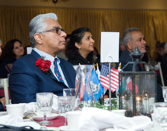 09/27/18 Wesley Bunnell | Staff The Immigrant Heritage Hall of Fame 2018 Gala and Induction Ceremonies was held on Thursday night at The Aqua Turf Club. Inductee Adnan Durrani.