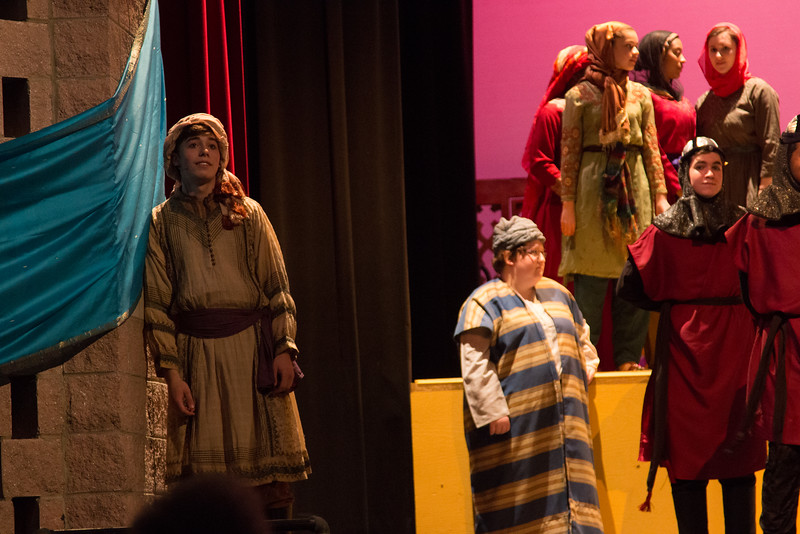The Caliph, moonstruck -- Kismet, Montgomery Blair High School spring musical, April 15, 2016 performance (Silver Spring, MD)
