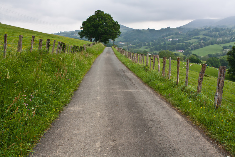 Driving to La Bastide-Clairence, French Basque Country