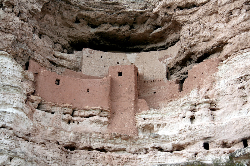 Montezuma Castle right before the monsoon pounded us...