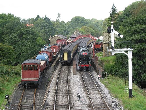 North Yorshire Moors Railway, Goathland, 2003.