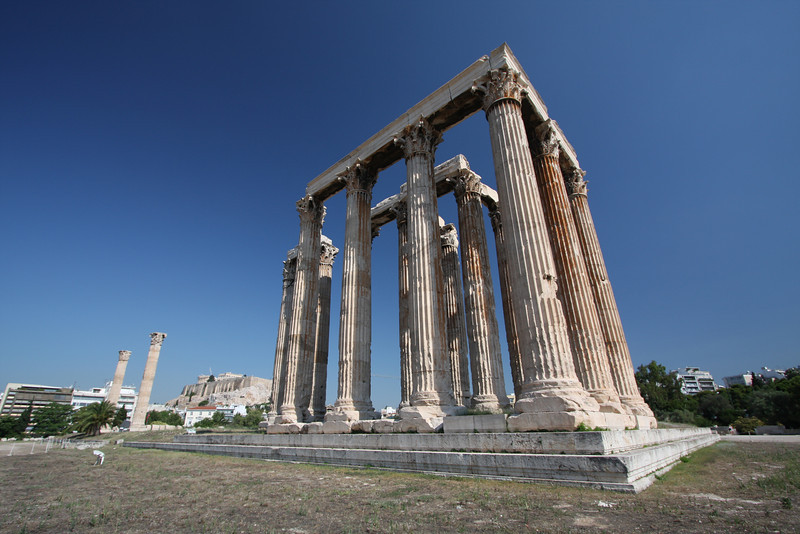The Temple of Olympian Zeus. Athens, Greece.