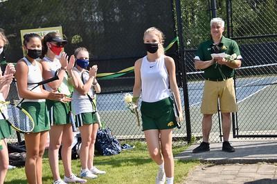 A Senior Moment...Girls Varsity Tennis photos by Gary Baker