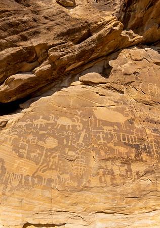 Nevada / Gold Butte / Khota Circus petroglyphs