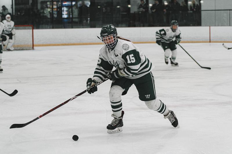 Holy Family Varsity Girls Hockey vs. Waconia, 1/9/20: Lauren Hickey '20 (15)
