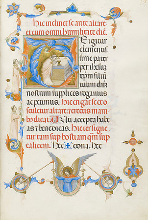 May 16 Thu 2013 MORGAN LIBRARY Oasis of Riches: Eucharist Medieval Ms Exhibition