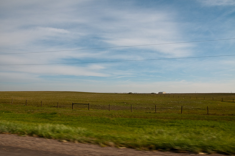 Very flat land... very flat.