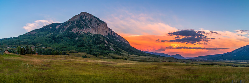 Mount Crested Butte Evening Colors