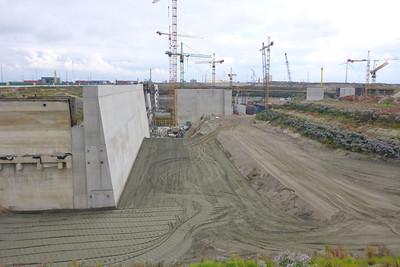 Construction Deurganckdok lock Port Of Antwerp