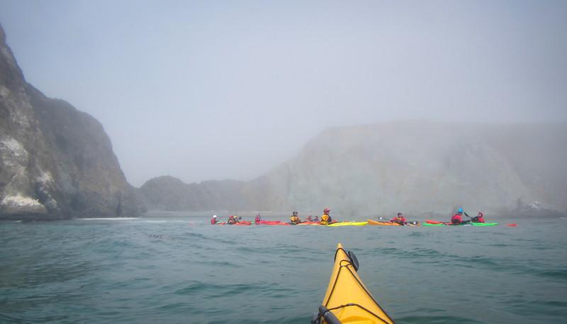 The fog settled in.