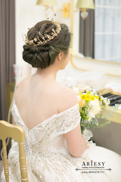 ARIESY愛瑞思,宮廷皇冠新娘造型,美式新娘捧花,新秘,新娘秘書,台北新秘推薦