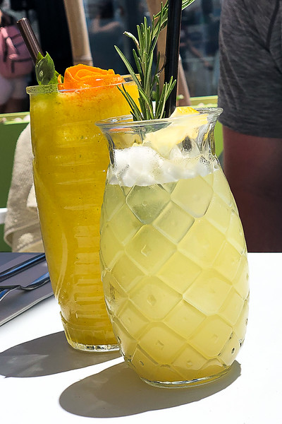 Awesome lemonade for me and cocktail for Brad