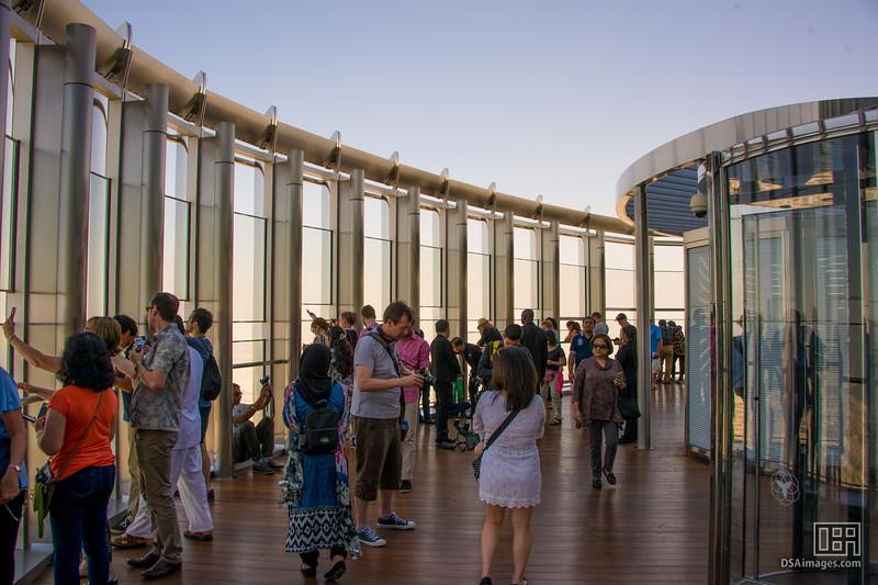 """Viewing platform """"At the Top"""", half way up the Burj Khalifa"""