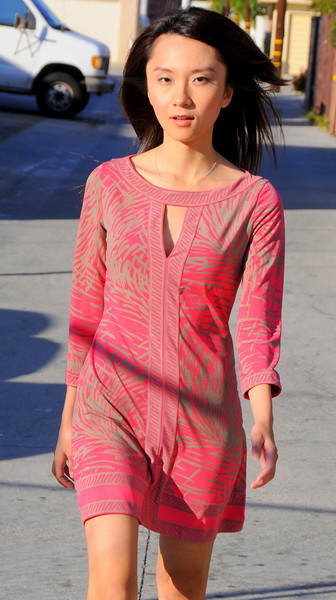 beautiful woman model red dress 2733.4.34.34
