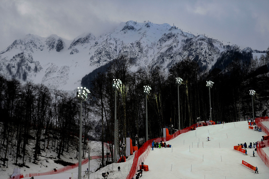 . During ladies\' slalom run 1. Sochi 2014 Winter Olympics on Friday, February 21, 2014 at Rosa Khutor Alpine Center. (Photo by AAron Ontiveroz/ The Denver Post)