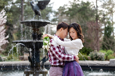 Mina & Jay | Duke Gardens Engagement