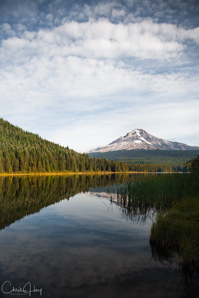 Mt. Hood and Trillium Lake on a fall afternoon
