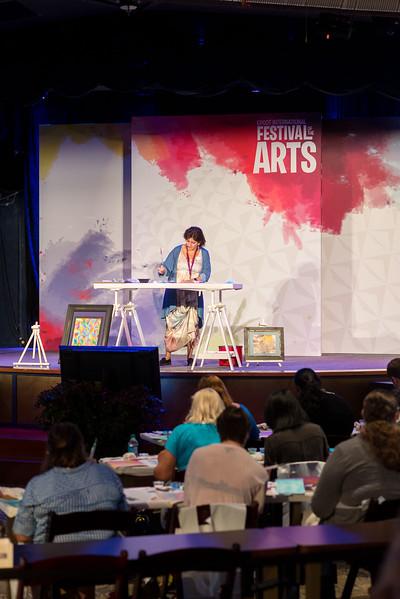 Art Class Inside Odyssey Center - Epcot International Festival of the Arts 2017