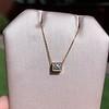 .70ct French Cut Diamond Bezel Pendant, 18kt Yellow Gold 0