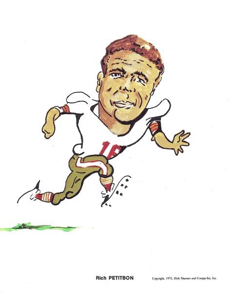 1972 Compu-Set Redskins Richie Petitbon