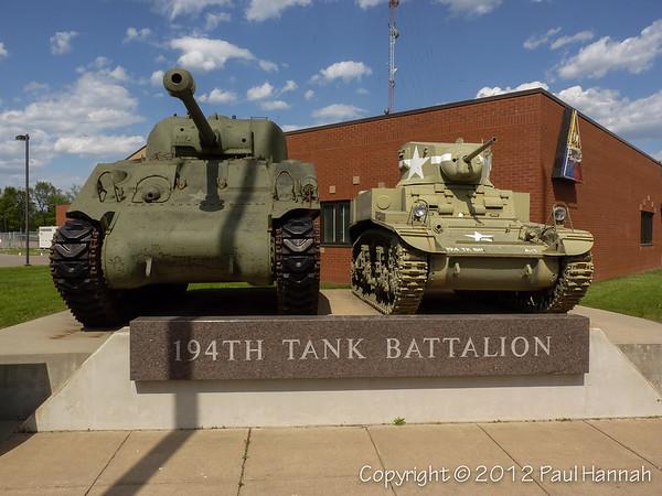 MNANG Armory - 194th Tank Battalion Bataan Monument -  Brainerd, MN