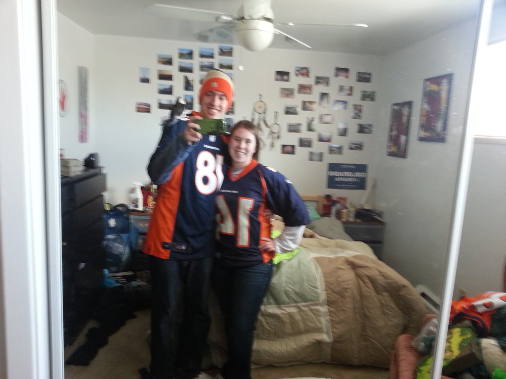 . Getting ready for a super bowl win! Allison McGraw