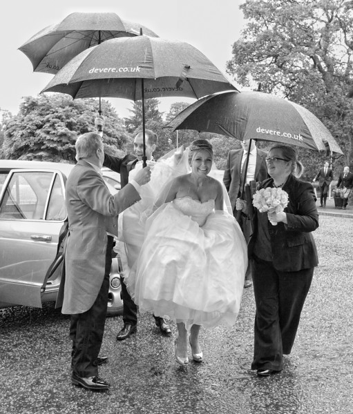 Rainy Wedding photos
