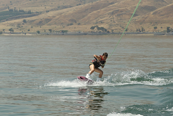 Wakeboarding on the Sea of Galilee June 2011