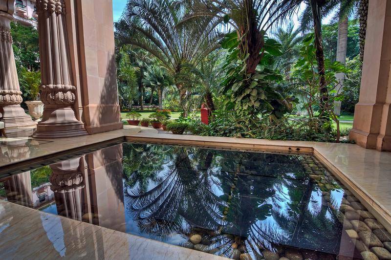 Reflection Pool-Leela Palace Hotel-Bangalore India