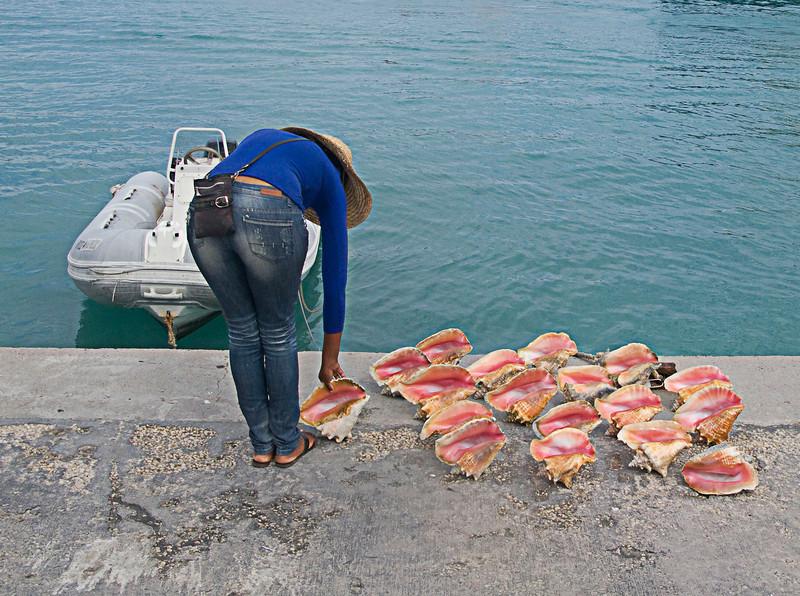 conch girl setting up.jpg