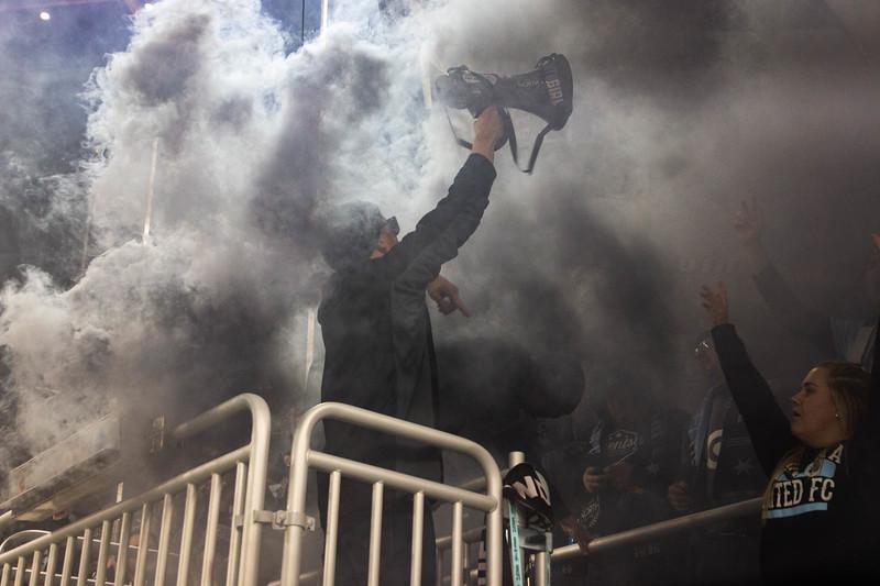 True North Elite, Goal, Screaming, Celebration, Flags, Smoke, Capo