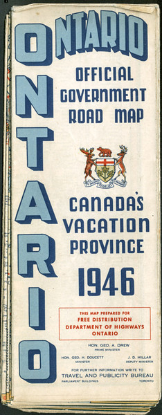 Ontario Official Highway Map 1946