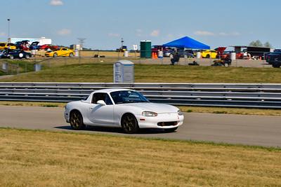 2020 SCCA TNiA July 29th Pitt Race White Miata 2