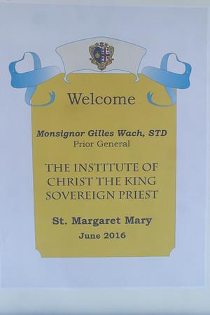 Monsignor Wach's Visit: Solemn High Mass (June 11, 2016)