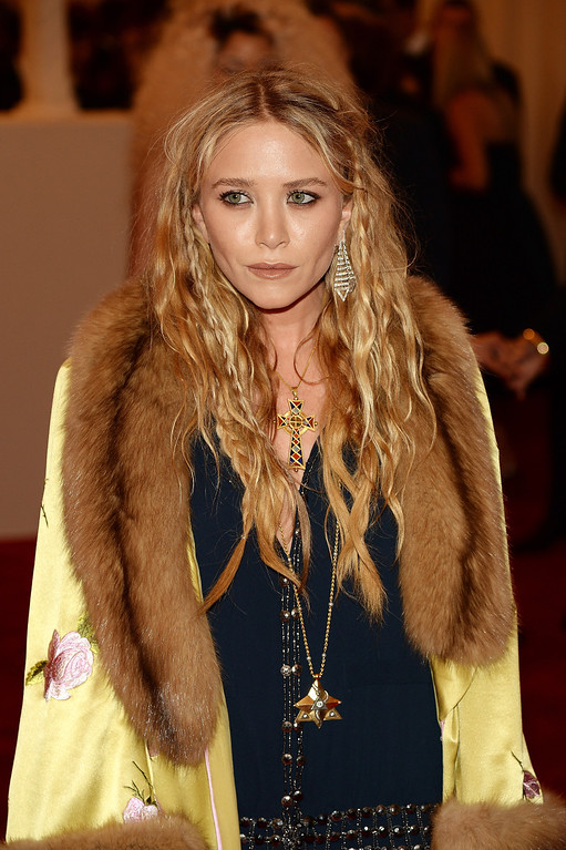 """. Mary-Kate Olsen attends the Costume Institute Gala for the \""""PUNK: Chaos to Couture\"""" exhibition at the Metropolitan Museum of Art on May 6, 2013 in New York City.  (Photo by Dimitrios Kambouris/Getty Images)"""