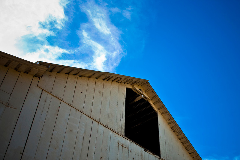 The White Barn at Rancho San Antonio Open Space Preserve in Santa Clara County, California.