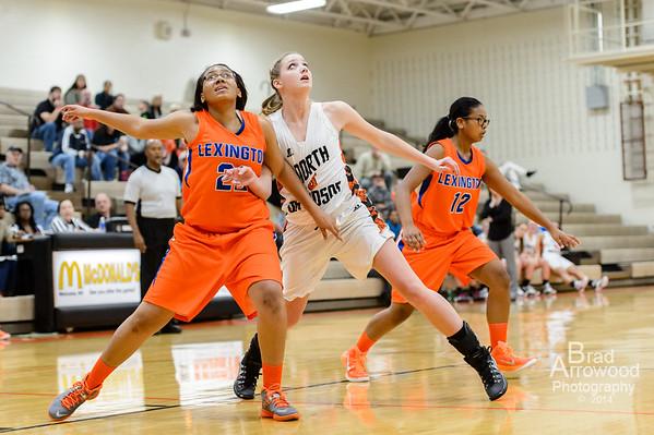 NDHS Lady Knights Basketball vs Lexington 2014 2