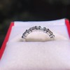1.10ctw Round and Baguette Diamond Eternity Band 13