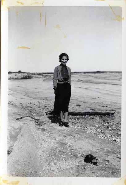 Julia on the Lake Huron Beach 1938.jpg
