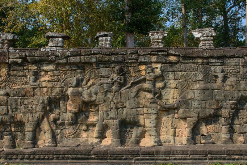 Angkor Thom. The Elephant Terrace.