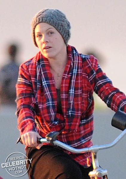 EXC: P!NK and Husband Carey Hart's Sunset Bike Ride