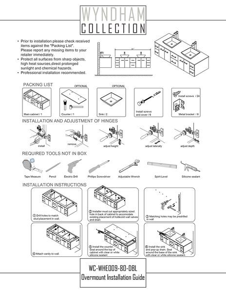 WC-WHE009-80-DBL-OM-Installation