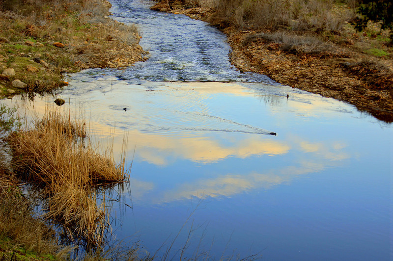 HDR Socal Malibu Landscapes: Clouds reflected in water!