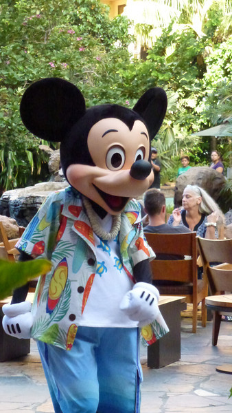 Mickey at the Disney's Aulani Resort.