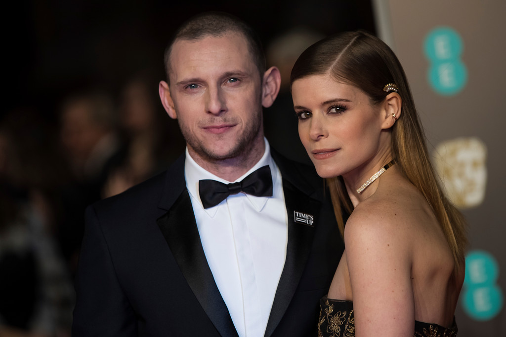 . Kate Mara and husband Jamie Bell pose for photographers upon arrival at the BAFTA Film Awards, in London, Sunday, Feb. 18, 2018. (Photo by Vianney Le Caer/Invision/AP)