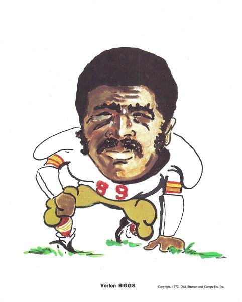 1972 Compu-Set Redskins Verlon Biggs